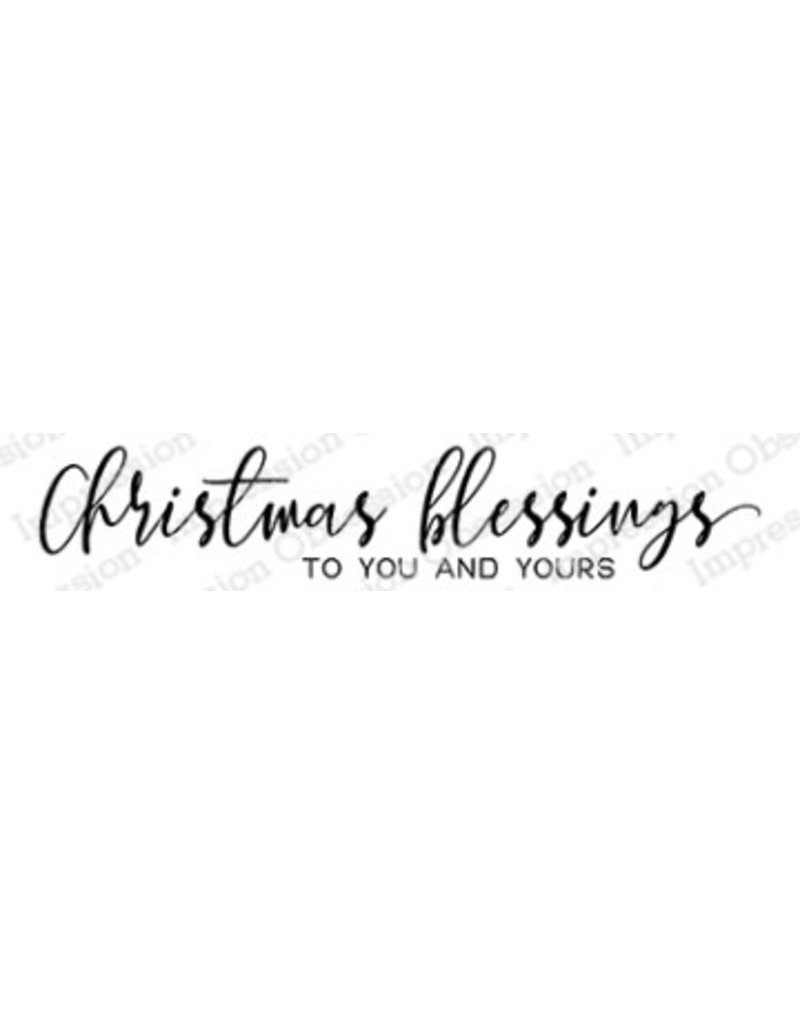 Impression Obsession Christmas Blessings Stamp