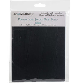 49 & Market Jagged Flip Folio: Black