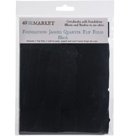 49 & Market Jagged Quarter Flip Folio: Black