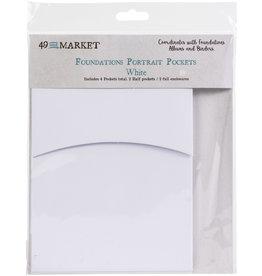 49 & Market Portrait Pockets: White