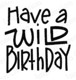 Impression Obsession Wild Birthday Stamp