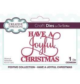 Creative Expressions Have a Joyful Chrstmas Die