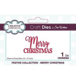 Creative Expressions Merry Christmas Die