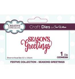 Creative Expressions Seasons Greetings Die