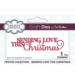 Creative Expressions Sending Love this Christmas Die