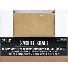 american crafts Kraft  A2 cards & envelopes