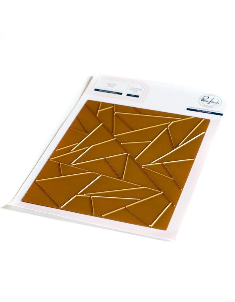 pinkfresh studios Abstract Triangles hot foil plate