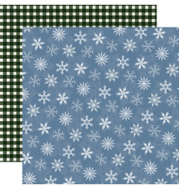 Carta Bella Welcome Winter Paper: Blue Blizzard