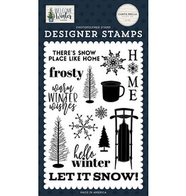 Carta Bella Welcome Winter: Snow Place Like Home Stamp Set