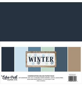 Echo Park Winter: Solids Kit