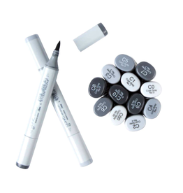 copic COOL GRAYS Copic Sketch Markers