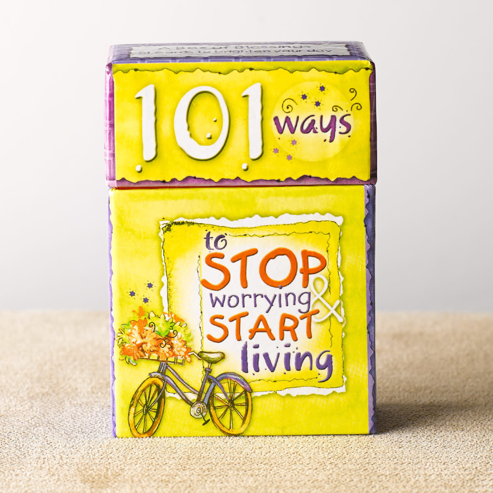 Christian Art Gifts 101 Ways to Stop Worrying & Start Living - Box of Blessings