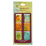 Christian Art Gifts Peaceful Thoughts - Mini Magnetic Bookmark Set