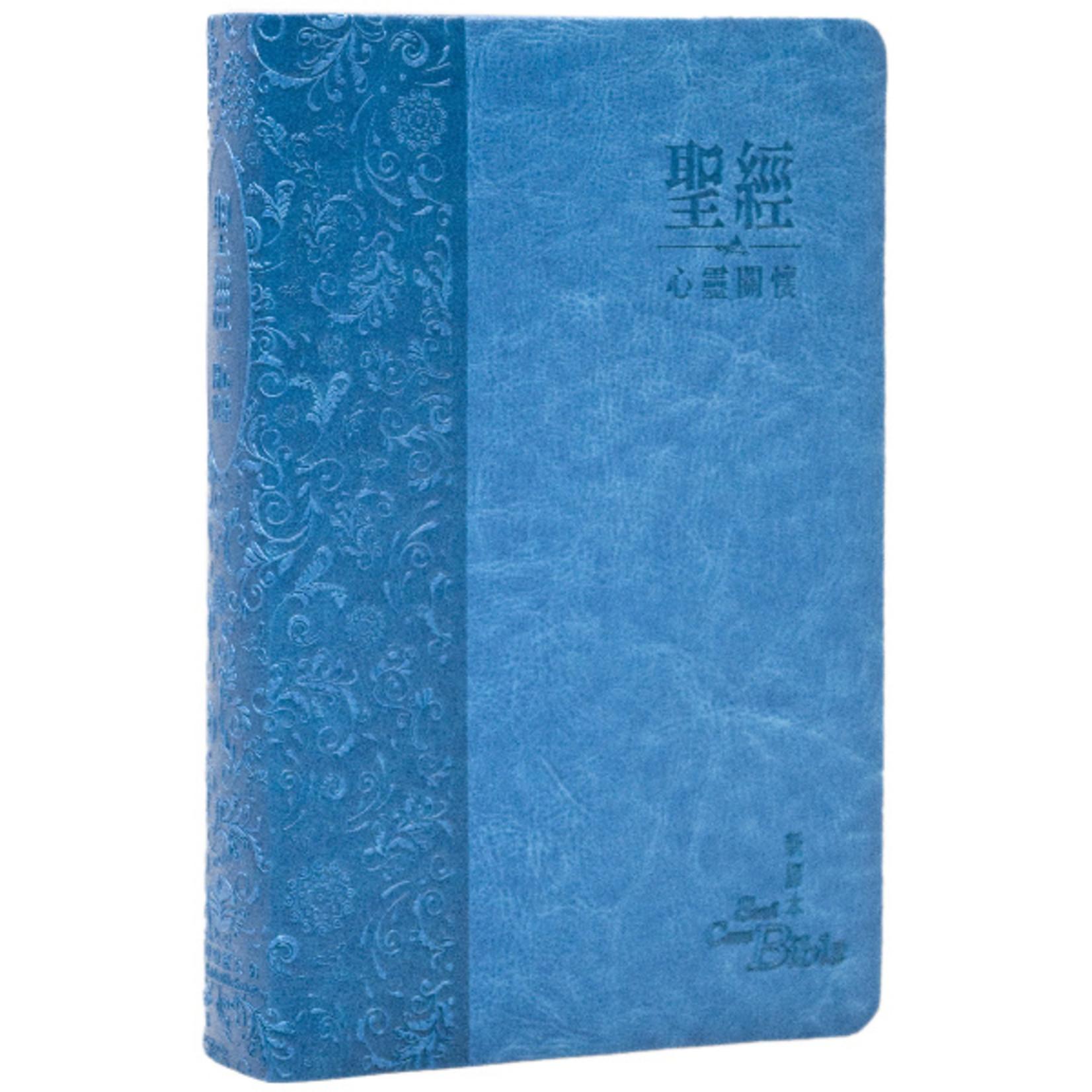 環球聖經公會 The Worldwide Bible Society 心靈關懷聖經:新譯本.標準裝.藍色儷皮銀邊.繁體 CNV Soul Care Bible Trad. , Standard, Blue Poly U Cover, Silver Edge