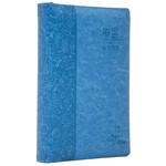 環球聖經公會 The Worldwide Bible Society 心靈關懷聖經:新譯本.標準裝.藍色儷皮銀邊拉鏈.繁體