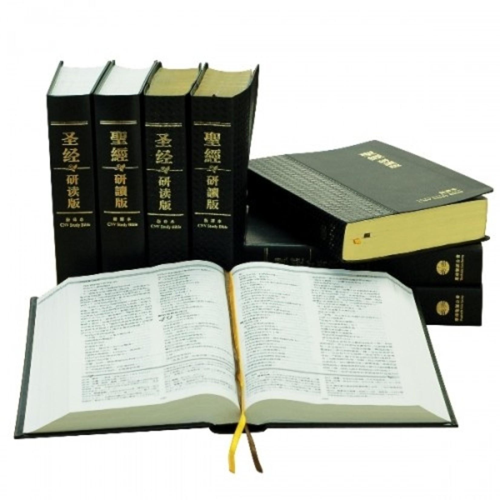 環球聖經公會 The Worldwide Bible Society 聖經研讀版:新譯本.加大裝.黑色真皮燙金金邊.繁體 CNV Study Bible, Large Size, Trad., Black Leather Cover, Gold Edge