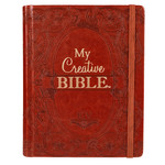 Christian Art Gifts Brown Faux Leather Hardcover My Creative Bible - KJV Journaling Bible
