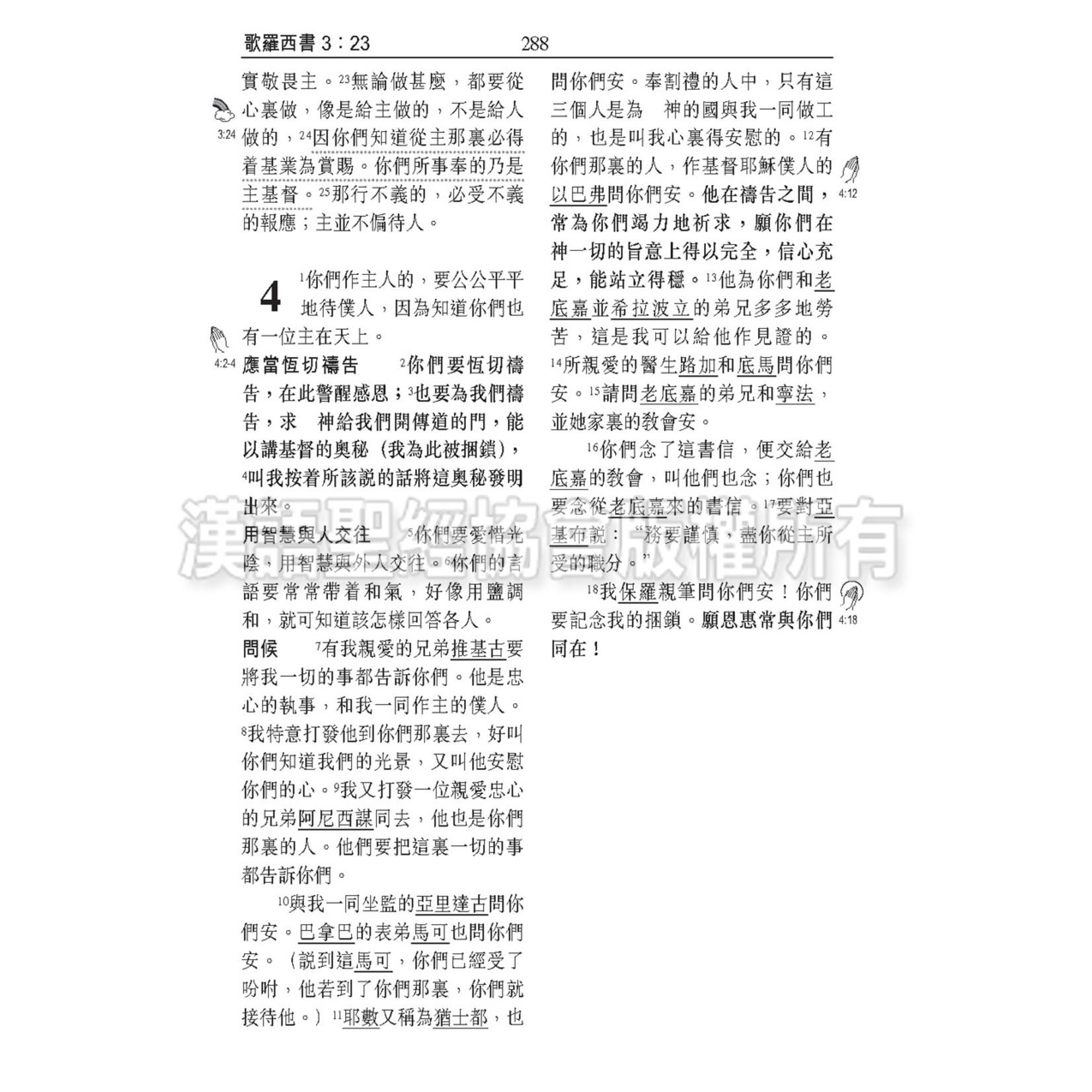漢語聖經協會 Chinese Bible International 聖經和合本.祈禱應許版.繁體標準本.黑色硬面.白邊