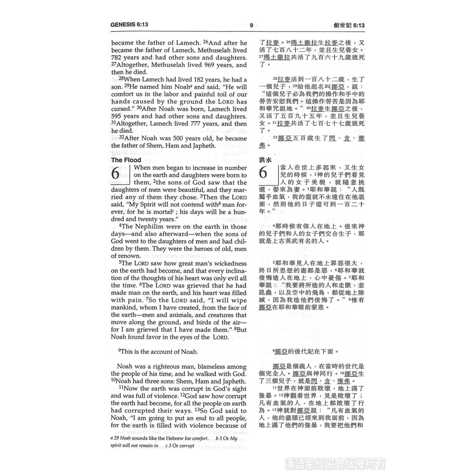 漢語聖經協會 Chinese Bible International 聖經.中英對照.和合本/NIV.輕便本.紫色硬面.白邊 Union Version / NIV (Purple Hardcover White Edge)