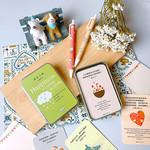 心然文化 Kosmos Art 中英經文卡方盒--遇見幸福