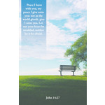 B&H Publishing Group 喪禮列序單 Bulletin - My Peace (Funeral) (Pack of 100)