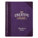 Christian Art Gifts Purple Faux Leather Hardcover My Creative Bible - A Journaling Bible
