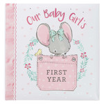 Christian Art Gifts Our Baby Girl's First Year Memory Book