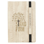 Christian Art Gifts Stand Firm - Flexcover Dotted Journal with Elastic Closure – Luke 21:19