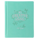 Christian Art Gifts Teal Butterfly - My Creative Bible for Girls