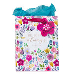 Christian Art Gifts Be Joyful Always - Multicolored Medium Gift Bag with Tissue Paper - 1 Thessalonians 5:16