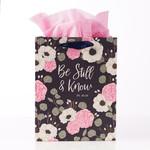 Christian Art Gifts Be Still & Know - Medium Gift Bag – Psalm 46:10