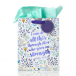 Christian Art Gifts I Can Do All This - Phil 4:13 Medium Gift Bag