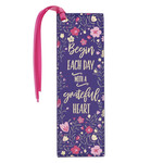 Christian Art Gifts Grateful Heart - Faux Leather Bookmark