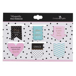 Christian Art Gifts Pray Every Day - Petite Die-cut Magnetic Bookmark Set