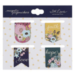 Christian Art Gifts Faith Hope Love - Die-cut Petite Magnetic Bookmark Set