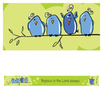 Christian Art Gifts Rejoice in the Lord - Magnetic Strip - Philippians 4:4