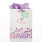 Christian Art Gifts Blessings for Your Day - Deut 16:15 - Medium Gift Bag