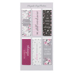 Christian Art Gifts Pink Roses - Magnetic Bookmark Set