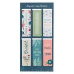 Christian Art Gifts Floral Garden - Magnetic Bookmark Set