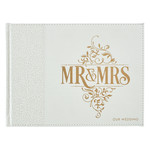 Christian Art Gifts White Lace Mr. & Mrs. Wedding Guest Book