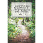 B&H Publishing Group Bulletin - He Restoreth My Soul (Funeral) (Pkg 100)