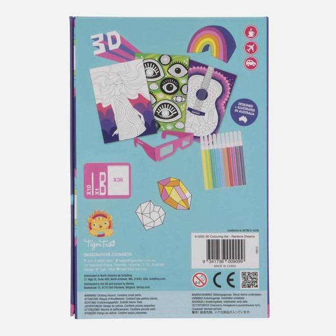 3D Colouring Set - Rainbow Dreams