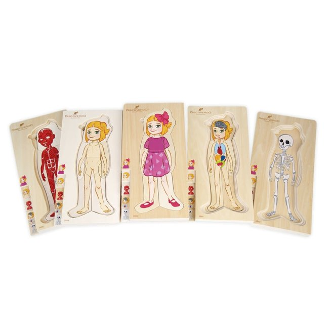 Discoveroo 5 Layer Body Puzzle - Girl