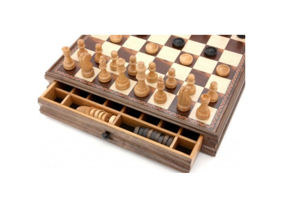 Dal Rossi Chess and Checkers 15''