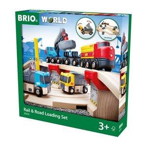 Brio Brio Wooden Rail and Road Loading Set