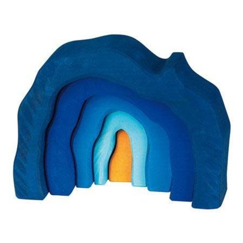 Gluckskafer Blue Wooden Grotto Set 5 Parts