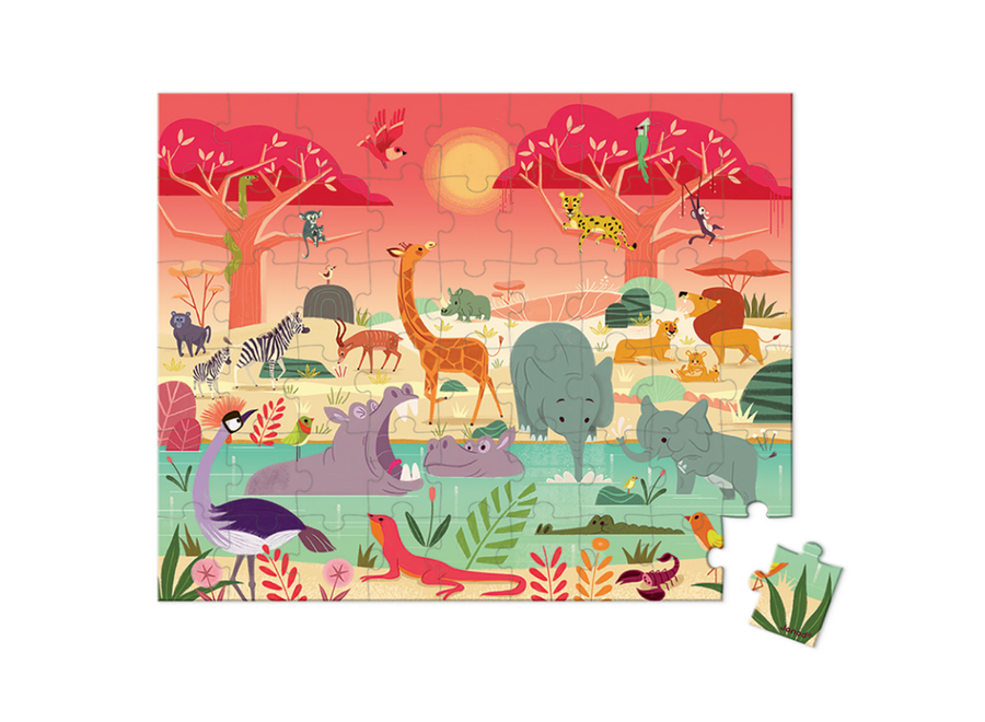 Janod 54 piece Animals Reserve Puzzle