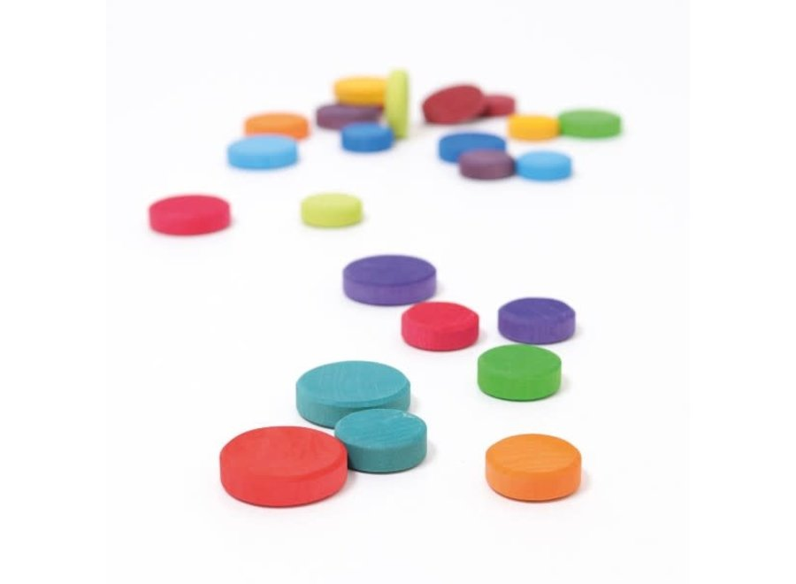 Grimms Wooden Rainbow Coins