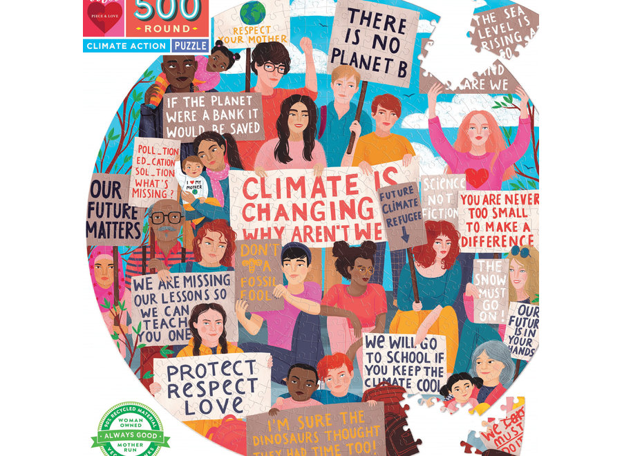 eeBoo 500 Pc Jigsaw Puzzle - Climate Action