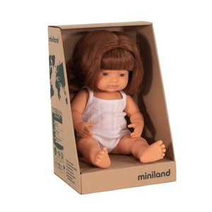Miniland Miniland Caucasian Red Hair Girl 38cm